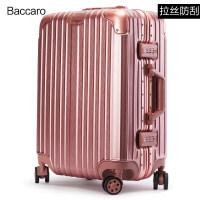 2018新款铝框拉杆箱旅行箱包密码行李箱登机箱子万向轮男女20寸学生