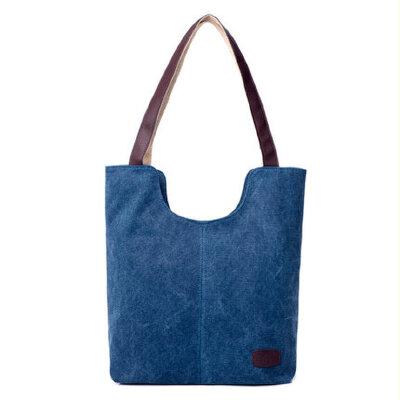 简约大容量帆布包女包单肩包手提包休闲女士包大包包 品质保证 售后无忧 支持货到付款