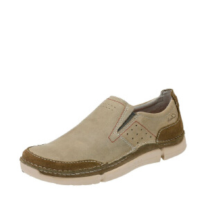 Clarks/其乐男鞋2017秋冬新款真皮套脚休闲鞋Trikeyon Step专柜正品直邮