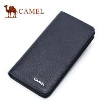 Camel/骆驼长款钱包2017新款男士钱夹商务休闲牛皮男皮夹