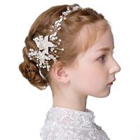 春夏新款女童皇冠儿童花环女童演出公主发箍花童发饰拍照写真头饰