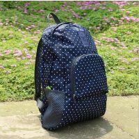 旅行可折叠双肩包男女包多功能背包学生书包收纳包包中包花纹加厚