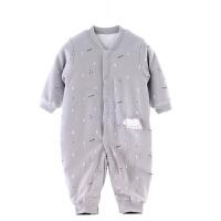 婴儿连体哈衣秋冬保暖薄棉加棉0-1岁宝宝衣服爬爬服