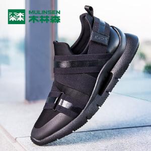 木林森男鞋  男士休闲鞋新品秋季运动休闲男士跑鞋潮流跑步鞋77053629