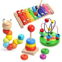 儿童串珠绕珠早教婴幼儿玩具6-12个月宝宝益智力玩具0-1-2岁3周岁