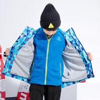 男童秋冬冲锋衣外套上衣中大童儿童秋冬小孩童装