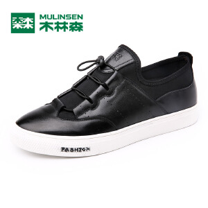 木林森男鞋 秋季新品男士套脚时尚运动休闲鞋 韩版舒适耐磨板鞋05367633