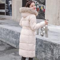女中长款2018冬季棉袄ins面包服加厚过膝宽松BF羽绒棉衣外套