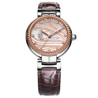 飞亚达Fiyta-心弦系列 LA8412.MWRD  自动机械女士手表