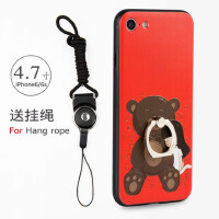 苹果iPhone6plus手机壳 iPhone6保护壳 iPhone5手机壳套 外壳 软套 一体指环支架防摔全包硅胶软