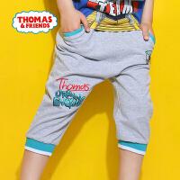 【满600减400】托马斯正版童装男童夏装时尚休闲潮裤垮裤纯棉舒适吸汗短裤七分裤