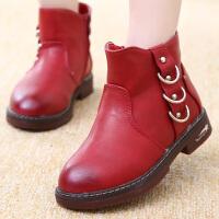 童鞋女童马丁靴2017新款儿童靴子秋冬男童鞋韩版棉鞋冬靴二棉短靴