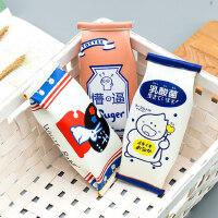 咔巴熊创意零食造型笔袋小清新韩国风简约小学生拉链文具袋多功能可爱铅笔袋个性初中生高中生收纳包女生笔盒