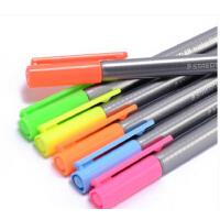 德国STAEDTLER施德楼334三角荧光彩色勾线笔针管笔中性笔0.3mm