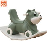 好孩子宝宝摇摇马小木马儿童摇马1-2周岁礼物婴儿玩具两用摇摇车