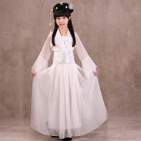 儿童表演服汉服襦裙仙女服装花千骨古筝演出服古装舞蹈服