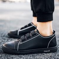 夏季男士休闲鞋韩版潮流板鞋学生懒人鞋一脚蹬皮鞋社会小伙男鞋子
