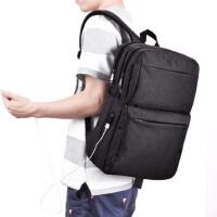时尚潮流15寸电脑包 男士充电背包双肩包青年男士旅行出差双肩包大学生书包
