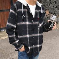 秋冬秋季长袖韩版男士衬衣长袖衬衫厚个性布工作服衬衫