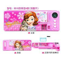 包邮儿童文具盒女韩国创意可爱公主10岁小学生多功能笔盒双层铅笔