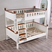 御目 儿童床 地中海柏木美式儿童男孩女孩母子床楼梯上下高低双层床子母床满额减限时抢礼品卡儿童家具