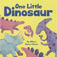 One Little Dinosaur 一只小恐龙 图画故事书 1-10数字启蒙 幼儿早教绘本 亲子互动读物 专注力养成