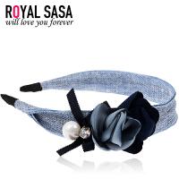 皇家莎莎RoyalSaSa发箍发饰韩国宽边头箍蝴蝶结女头饰品布艺时尚韩版发卡子