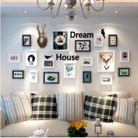 墙上装饰品挂件客厅鹿头壁挂创意墙壁相框墙欧式背景墙面挂饰墙饰