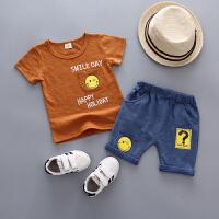 宝宝2夏季短袖套装男童5婴儿童衣服2018新款1-3岁4女童夏装两件套