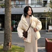 时尚羽绒服女短款2018新款韩版加厚欧货冬款小个子白鸭绒斗篷外套