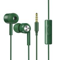 机乐堂(JOYROOM) 降噪创意航空游戏礼品电脑魔音耳麦入耳式耳机 绿色