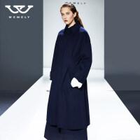 新品发布 双面羊绒大衣女中长款2018新款秋冬过膝毛呢外套