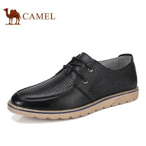 骆驼牌男鞋 新品时尚镂空休闲皮鞋透气牛皮耐磨男鞋