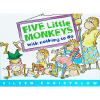 Five Little Monkeys with Nothing to Do 五只小猴没事做 英文原版绘本 廖彩杏书单