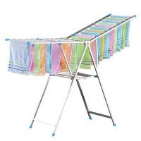 晾衣架宝宝尿布架落地毛巾架折叠儿童阳台多功能不锈钢晒衣架