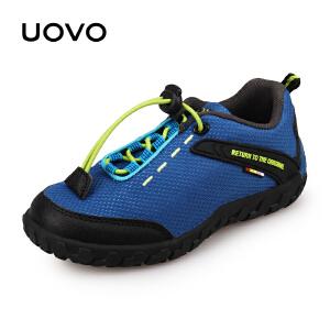 UOVO2019新款童鞋儿童运动鞋男童运动鞋女童鞋休闲鞋运动轻便网布时尚透气 大堡礁P