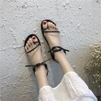 同款凉鞋2019夏季韩版新款网红女鞋百搭平底学生仙女风复古ins罗马凉鞋潮