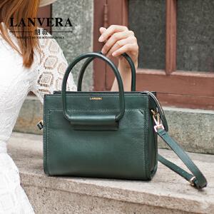 【支持礼品卡】LANVERA 新款女包OL通勤真皮手提包小包欧美简约牛皮单肩包潮 L2013