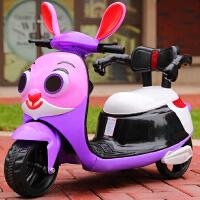 新款宝宝电动三轮车可充电儿童电动摩托车男女小孩玩具车可做童车