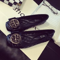 新款夏季黑色软底平底单鞋浅口方头40大码女鞋工作鞋41码