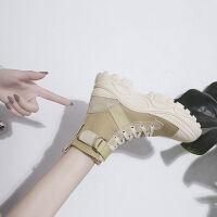 马丁靴女鞋秋季2019新款薄款英伦风透气机车靴网红厚底百搭短靴子
