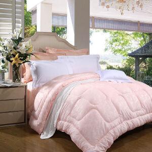 [当当自营]富安娜家纺 被子 纤维被 四季被/暖气房被 空调被 婉悦四季被粉色 1.2m(152*210cm)
