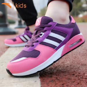 安踏女童气垫鞋新款正品运动鞋儿童减震跑步鞋女孩时尚休闲鞋