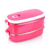 椭圆形不锈钢保温饭盒桶多层方形学生便当盒套装保温桶保温