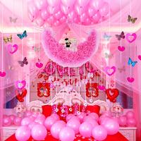 结婚婚房装饰用品浪漫婚礼拉花纱幔卧室墙装饰新婚庆布置道具