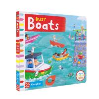 Busy Boats 英国原版进口 忙碌系列机关书 船只 机关操作书3-6岁 互动故事绘本 英文原版图书