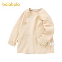【3件4.5折:53.6】巴拉巴拉童装男童长袖T恤儿童2021春季新款宝宝T恤衫百搭上衣萌