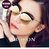 暴龙太阳镜女2016新款明星同款个性优雅偏光长脸大框墨镜潮BL6001