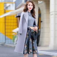 时髦套装裙2018秋冬季新款女装韩版气质毛呢连衣裙打底裙子中长款