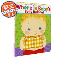 宝宝的肚脐在哪里 英文原版童书 Where Is Baby's Belly Button? 1-4岁 儿童绘本 英语启